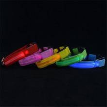 Adjustable Safety Pets Dog LED Flashing Night Light Nylon Collar USB Charging S-XL