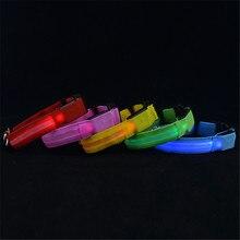 Svítící obojek na USB vhodný na večerní venčení