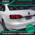 PUIYUE Car Styling For VW Jetta LED Taillights 2011-2014 North American Edition jetta Rear Light Rear Lamp DRL+Brake+Park+Signal