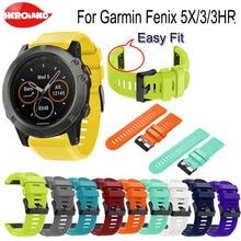 Quick Release Watchband Replacement Bracelet For Garmin Fenix 3/3HR Strap WristBand 5X/5X Plus Wriststrap