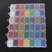 NiceBeads 1set 7 Colors 2mm 3mm 4mm  Crystal Glass Beads Czech Seed Spacer Beads Kit For DIY Beads jewelry making