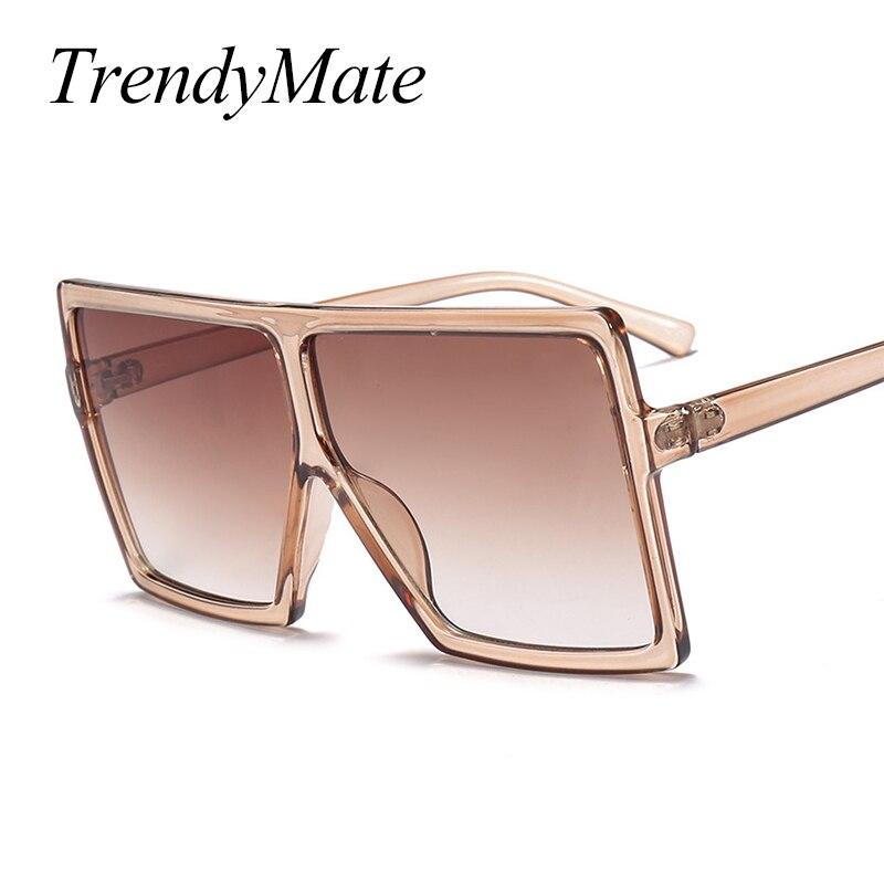 Oversize Frame Square Sunglasses Women 2018 Newest Shield Goggle Eyewear Men Luxury Eyeglasses Men's Retro Lunettes 1151T