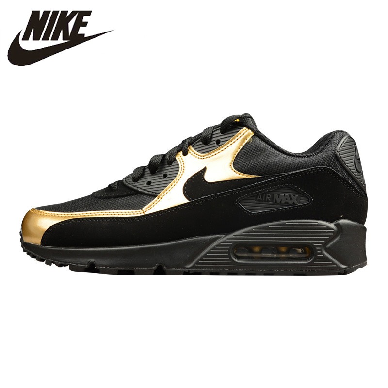 e24826b5a2 NIKE AIR MAX 90 ESSENTIAL Men's Running Shoes , Outdoor Sneakers Shoes,Black  Gold,