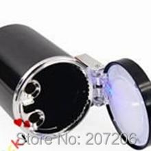 10pcs / lot Portable Car Auto LED Light Smokeless Ashtray Cigarette Holder / DHL Free Shipping