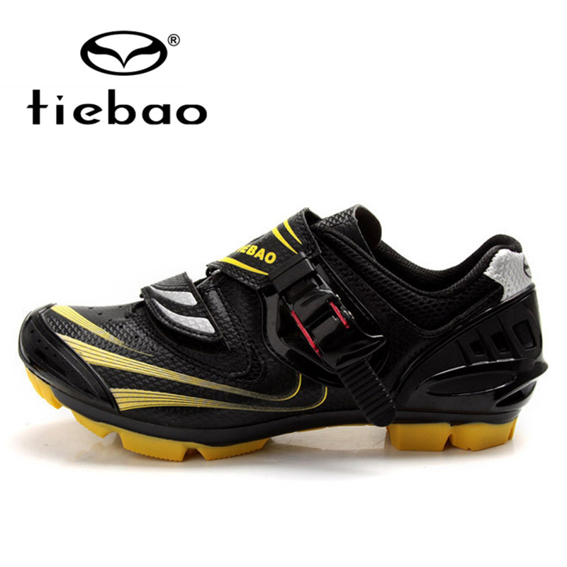 TIEBAO Professional Men Women MTB Mountain Bike Shoes Bicycle Self-Locking Cycling Shoes Breathable Racing Sport Shoes Sneakers