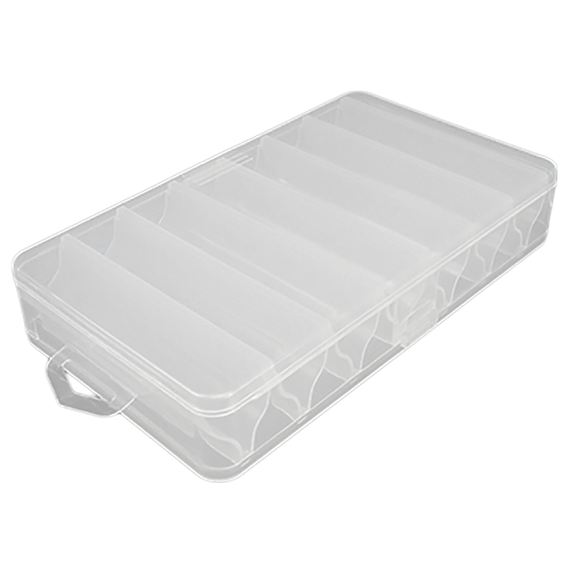 Double Side 14 Compartments Fishing Lure Box For Minnow Shrimp Bait Spoon Lures Storage Case Container Fishing Tackle Box