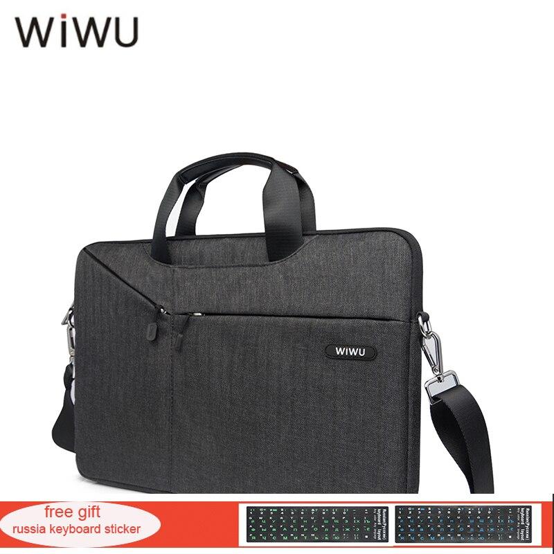 лучшая цена WIWU New Notebook Bag For Macbook air 13 11 12 15 Multi Use Gray Black Handbag Messenger Laptop Bag Shockproof Casual Nylon Bag