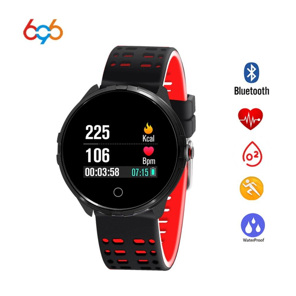 696X7 bracelet connecté moniteur de fréquence cardiaque Podomètre Sommeil Tracker IP68 bracelet intelligent traqueur de remise en forme pour Android IOS iPhone