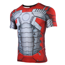 The Avengers  3D Printed T shirts Men iron Man MK5 Compression Shirt 2019 Summer Cosplay Costume Iron Short Sleeve Tops Male