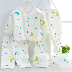 Bekamille Baby Set Newborn Cotton Underwear Sets Newborns infant cartoon bear Suit Baby Clothing 5 pcs/set 6 colors