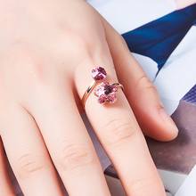 Prsteň KRYŠTÁLOVÝ KVET 2farby Ring Crystal Flower