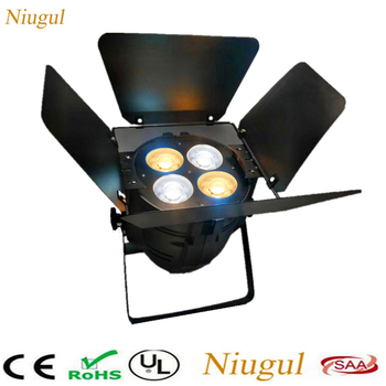 200W COB LED Par Light/4 Eyes Warm+Cold White COB Stage Lighting/4X50W LED Par DJ Disco Light With Barn Doors Fold Metal Cover