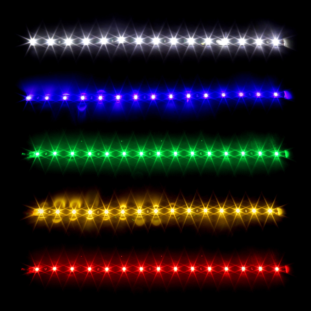 1 Piece 30cm Car Flexible LED Strip Light LED Daytime Running Light 12V Super Bright Decorative Lamp For Car Boat Motorcycle
