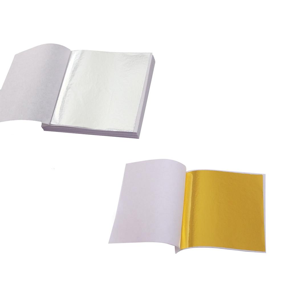 10 Pcs 24K Gold Foil Leaf Leaves Sheet Real Genuine Decoration Foil