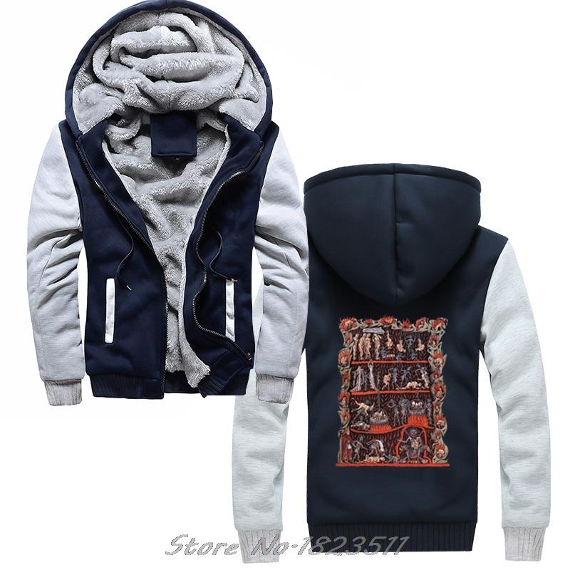 Flight Tracker Men Winter Thick Sweatshirt Hortus Deliciarum Hell Medieval Torture Satan Hoodie Hip Hop Hoody Jacket Tops Hot Sale 50-70% OFF Men's Clothing