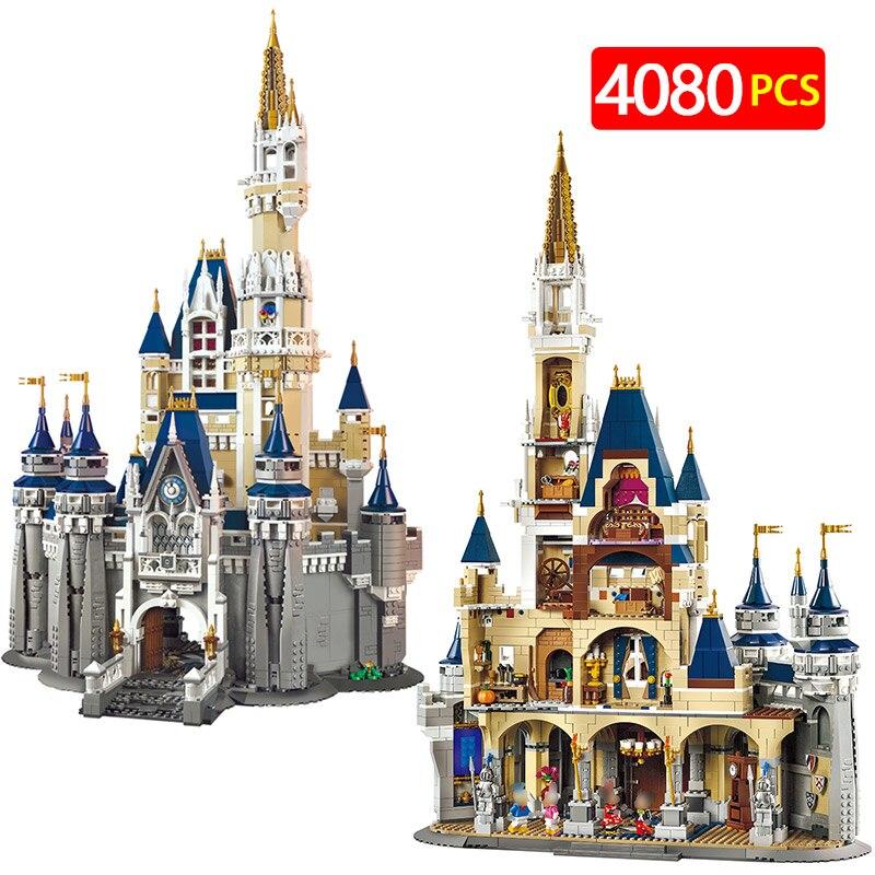 Игрушечные лошадки для детей город Street View набор Building Block модель LegoINGLYS 71040 Принцесса замок кирпич образования маленьких девочек серии