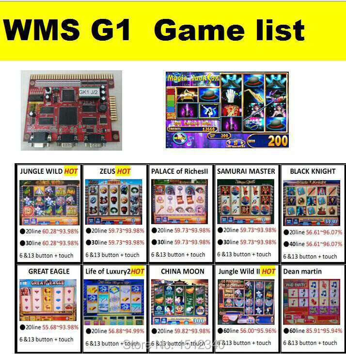US $162 0  Casino pcb /boards WMS nxt game board wms G1 boards good  price-in Coin Operated Games from Sports & Entertainment on Aliexpress com   