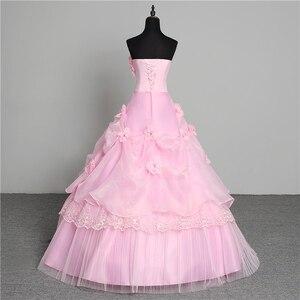 Image 2 - Vestido de noiva estilo coreano, 3 cores, novidade, estilo coreano, fofo, sem manchas, princesa, plus size, rosa, retrô, lotus, vestido de noiva, 2020 de