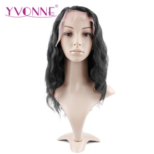YVONNE Brazilian Virgin Hair Body Wave Lace Front Human Hair Wigs Natural Color Free Shipping