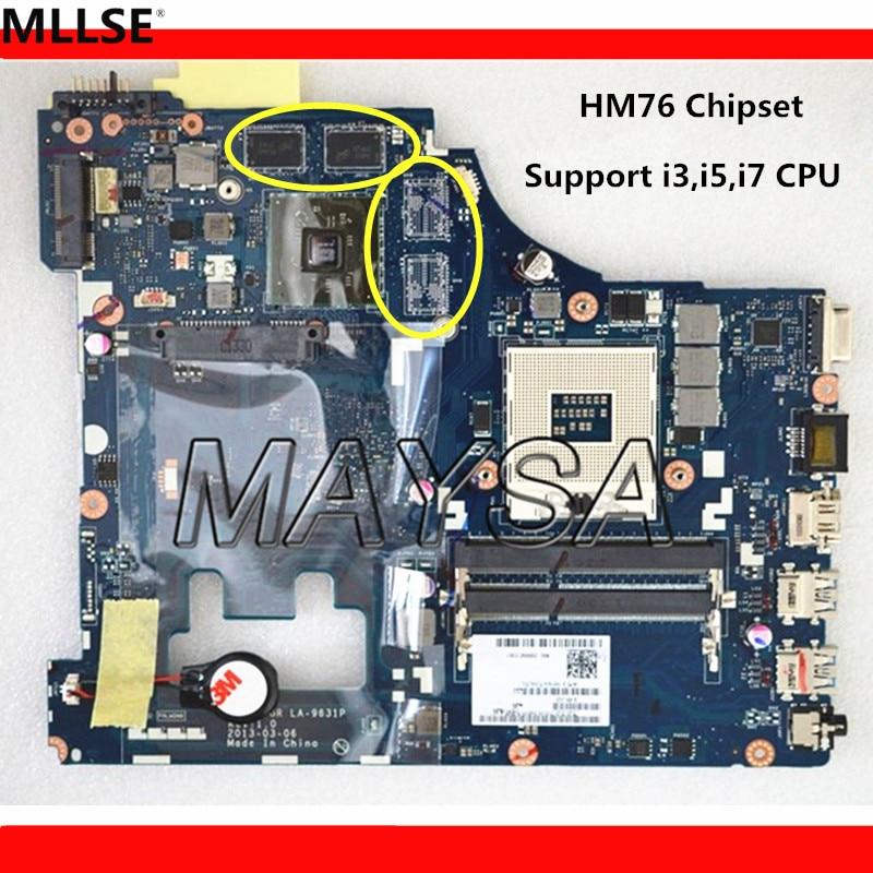 Genuine System Board Fit For Lenovo G500 Motherboard VIWGP/GR LA-9631P With Video card ( Support I3,I5 cpu )