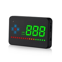 3.5 Inch Car Head up Display Travel Speed Compass Direction Overspeed Alarm Windshield Speed Projector Car Electronics