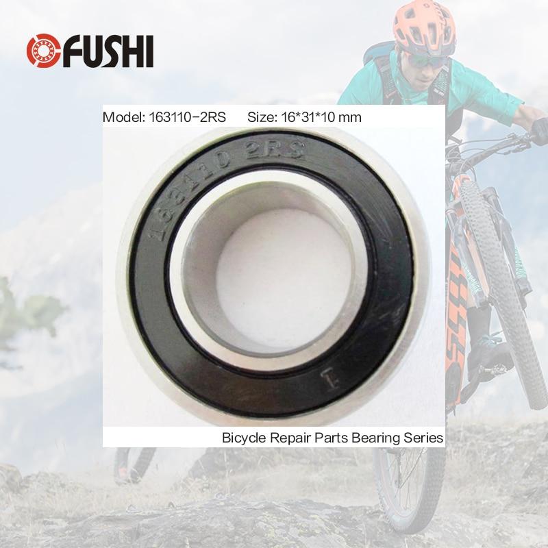 163110-2RS Bearing 16*31*10 mm ( 1 PC ) ABEC-3 163110 RS Bicycle Hub Front Rear Hubs Wheel 16 31 10 Ball Bearings 4pcs dac3063w 30x63x42 dac30630042 dac3063w 1 9036930044 574790 dac3063w 1cs44 hub rear wheel bearing auto bearing for toyota