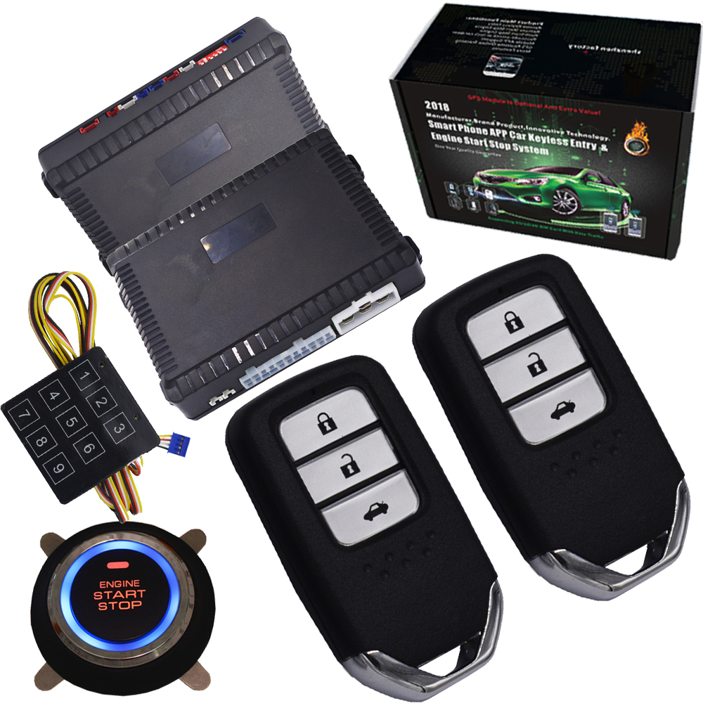 new passwords Passive car alarm system remote engine start stop Ignition Keyless Entry System Go Push Button Engine Start Stop auto passive keyless entry car alarm system with push button start stop engine remote start stop engine smart key switching