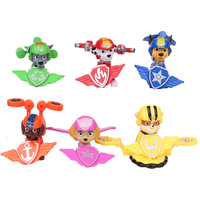 6 PCS SET Cartoon Patrol Puppy Fly Dog Model Toy Childrens Anime Action Figure Toy Mini