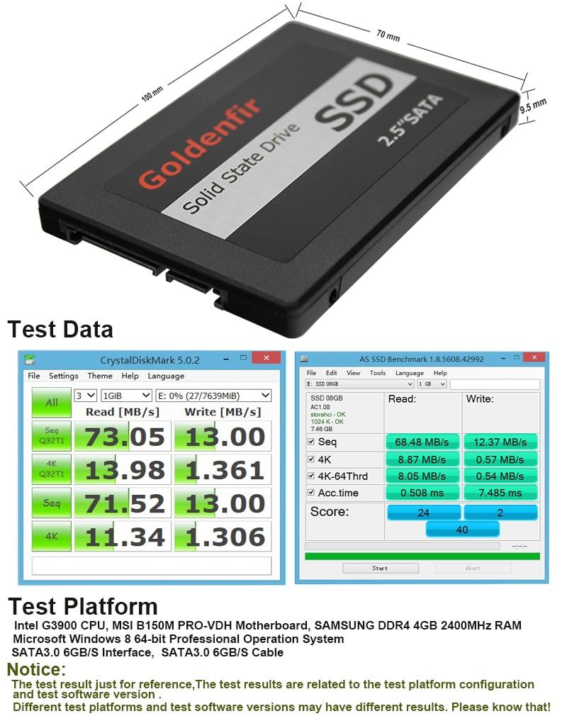 Goldenfir Ssd 8g 60gb 120gb High Speed Solid State Drive Hd 360gb