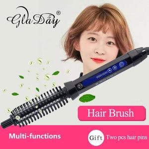 Image 2 - קרמיקה שיער מברשת Curler חשמלי שיער מברשת מסרק שיער מסתלסל רולר שיער קרלינג ברזל