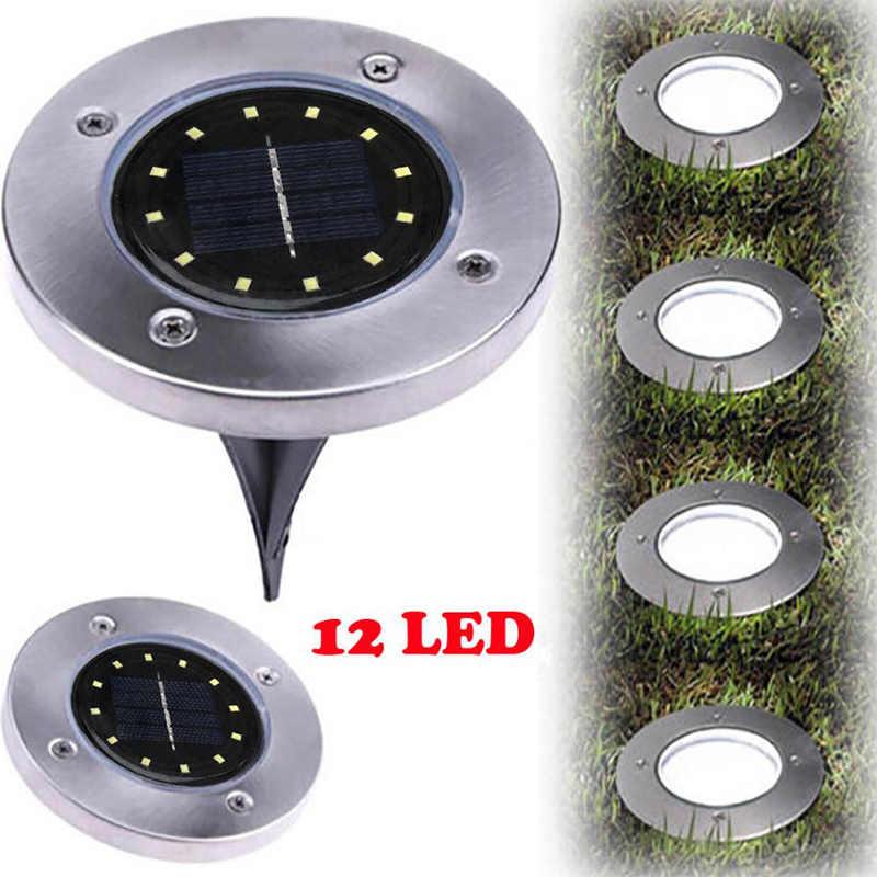 12LED Solar Buried Light IP65 Waterproof Outdoor Lawn Garden Ground Pathway Lamp