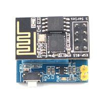 ABKT ESP8266 ESP 01S Serial Wireless Transceiver+DHT11 Temperature Humidity Monitor Shield Sensor Wifi Module Adapter Board Image Sensor     -