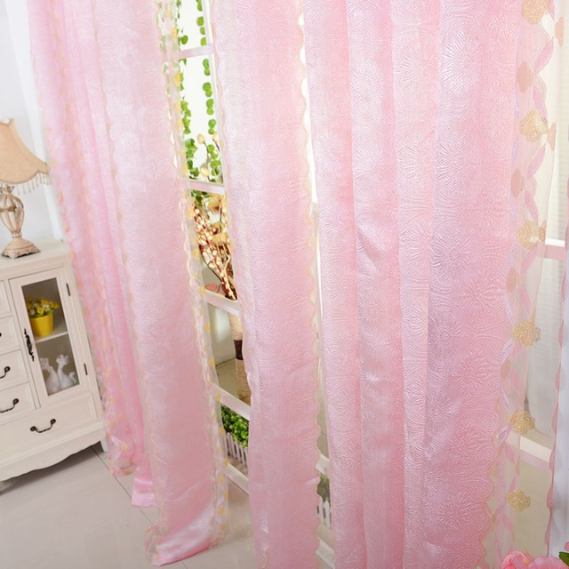 Chic Room Vertical Stripes Sheer Panel Drapes Curtains For Living Door Window Tulle