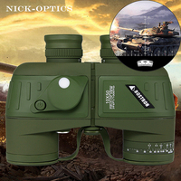 BOSTRON бинокль 7X50/10x50 hd professional Военная Униформа бинокль с цифровой компасы телескоп ночное видение окуляр фокус
