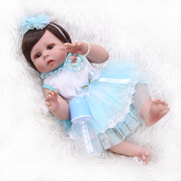 Boneca bebes Reborn Doll toy with beautiful Princess dress realista Baby alive girl DOLLMAI lol original Bonecas for children