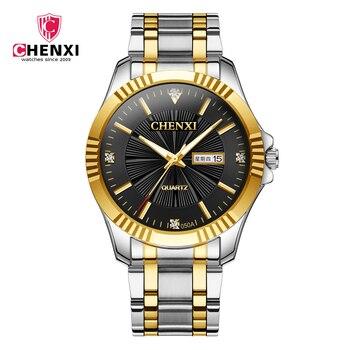 Relojes masculinos de cuarzo de buena calidad, reloj de negocios para hombre, reloj de fecha de acero inoxidable, relojes de pulsera luminosos impermeables para hombre