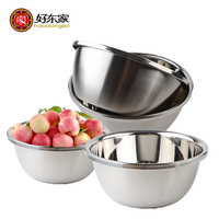 Haodongjia 4pcs Set Mirror Finish Food Grade Stainless Steel Soup Fruit Rice Mixing Bowls Eco Friendly