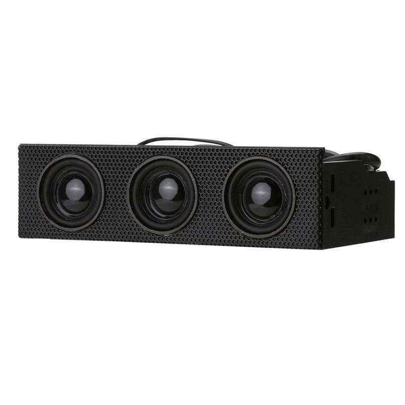 STW – haut-parleur Surround stéréo 9005 pouces, 5.25, panneau avant PC, boîtier d'ordinateur, microphone intégré, haut-parleurs de musique