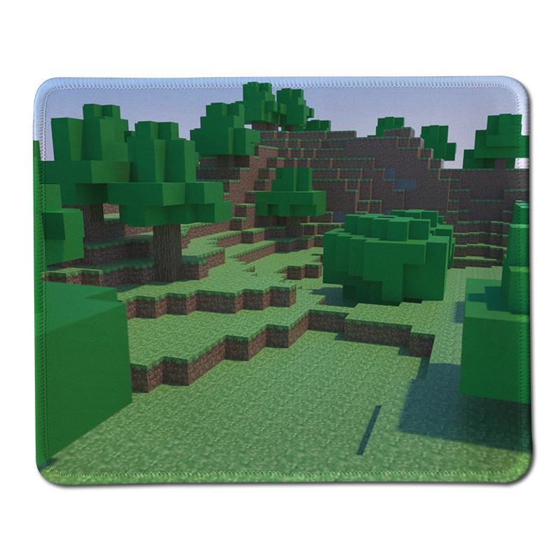 Hot High Quality Stitched Edge Rubber Mouse Pad for font b Minecraft b font Gaming Mousepad