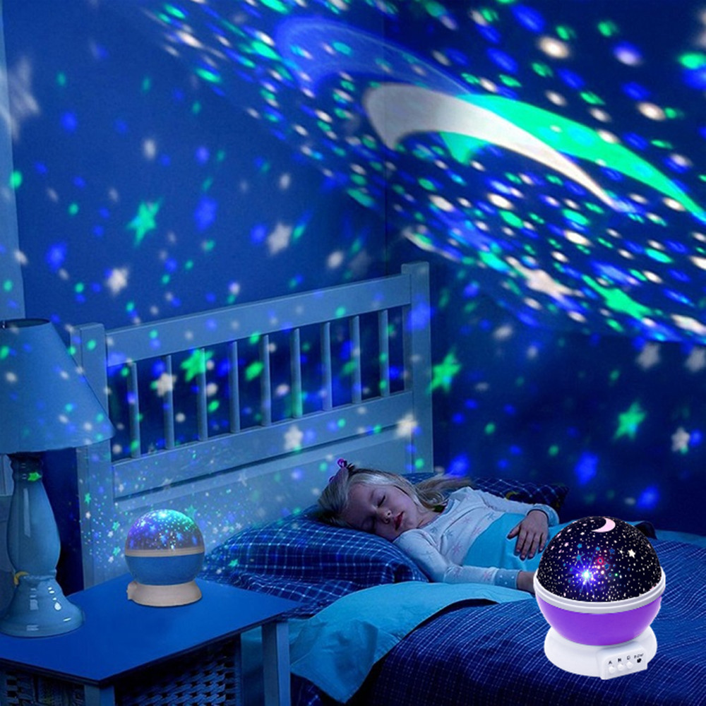 Multiple Stars Starry Sky/Ocean/Universe/Music Player Romantic LED Night Light Projector Kids Gifts Children Bedroom Night Lamp