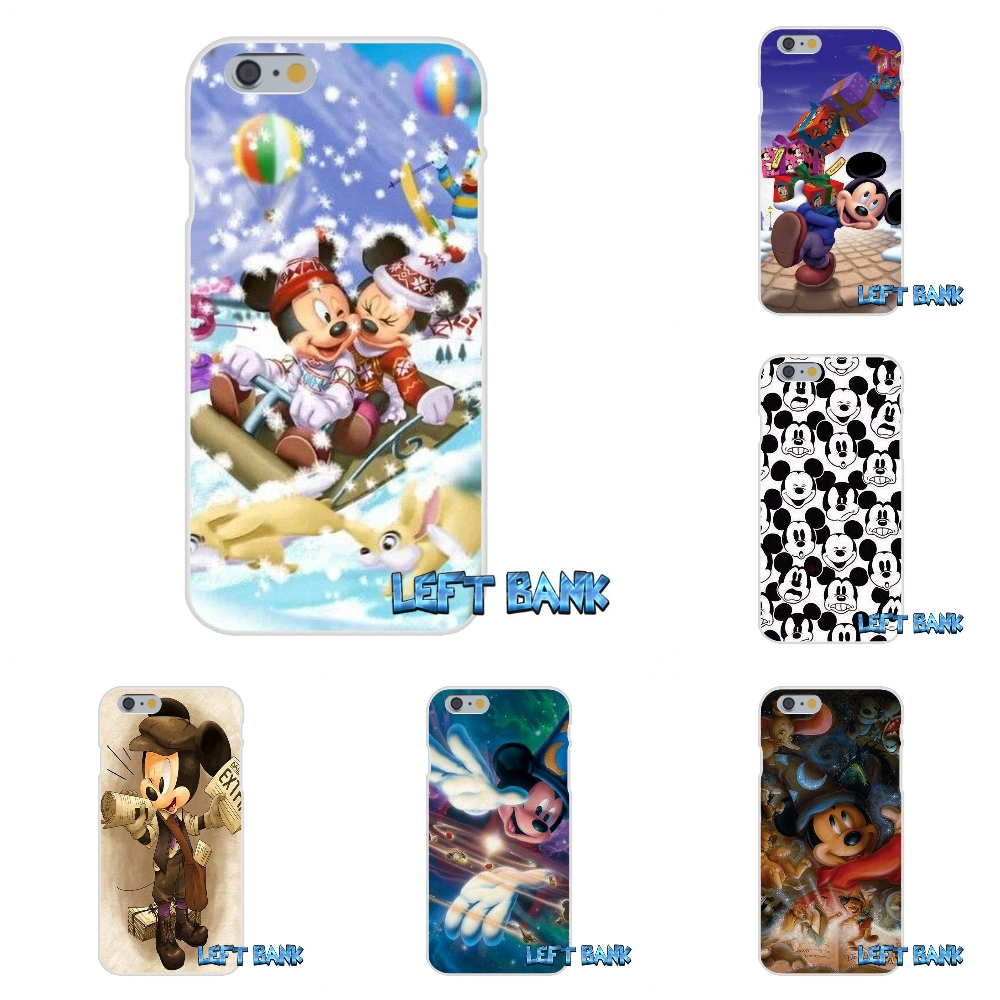 For iPhone 4 4S 5 5S 5C SE 6 6S 7 Plus Kissing Lovers Mickey Minnie Soft Silicone TPU Transparent Cover Case