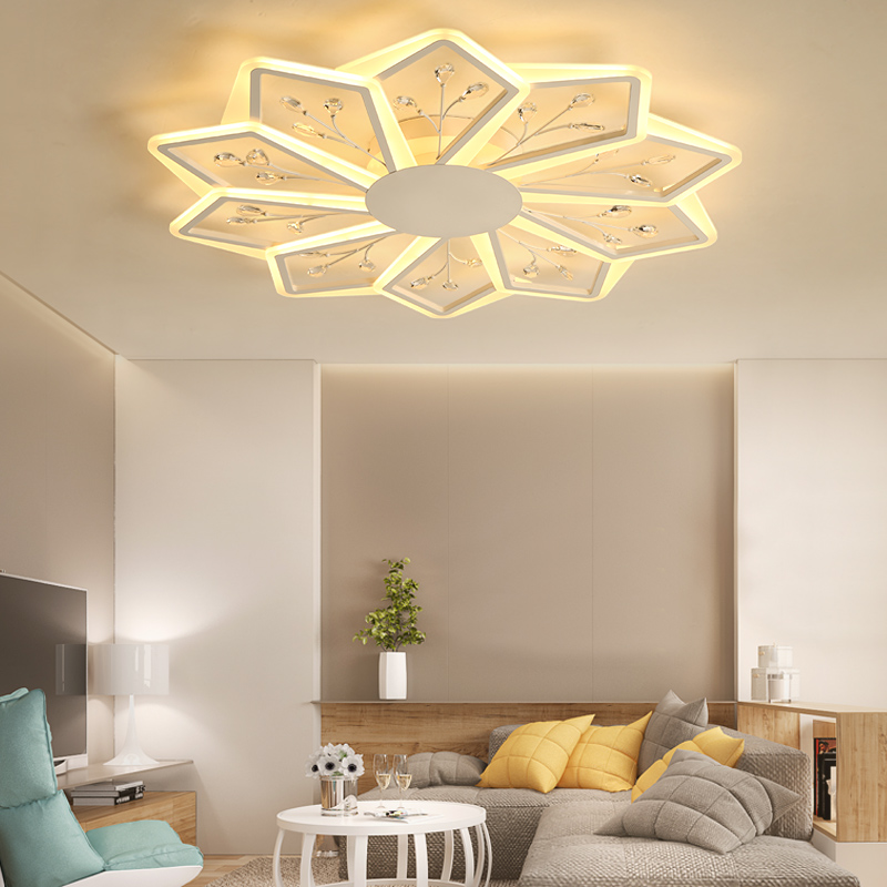 NEW Acrylic Modern LED Chandeliers For Living Room bedroom Dining room Fixture Chandelier Ceiling lamp home lighting luminarias modern acrylic led chandelier lamp flush mount chandeliers light remote control home lighting fixture for living dining room