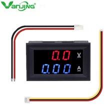 DC 100V 10A Voltmeter Ammeter Blue + Red LED Display Dual Digital  Amp Volt Meter Gauge Motorcycle Car Battery Monitor