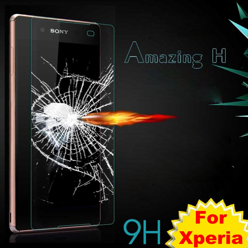 9H Premium Tempered Glass For Sony Xperia Z1 Z2 Z3 Z4 Z5 Compact C3 C4 C5 E4 E4g M2 M4 M5 Aqua E5 T3 Screen Protector Film Case