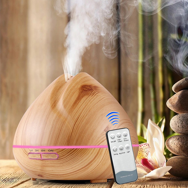500ML Essential Oil Diffuser With Remote Control Aroma Diffuser Aromatherapy Diffuser LED Lights For Home Air Aroma Humidifier цена 2017