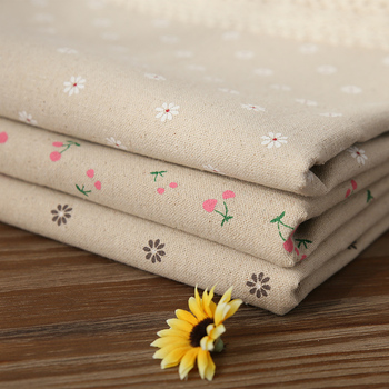 Hot Sale Pastoral Cotton Linen Table Cloth Cherry Daisies Printed Rectangular Cover Lace Edge Tablecloth for Wedding