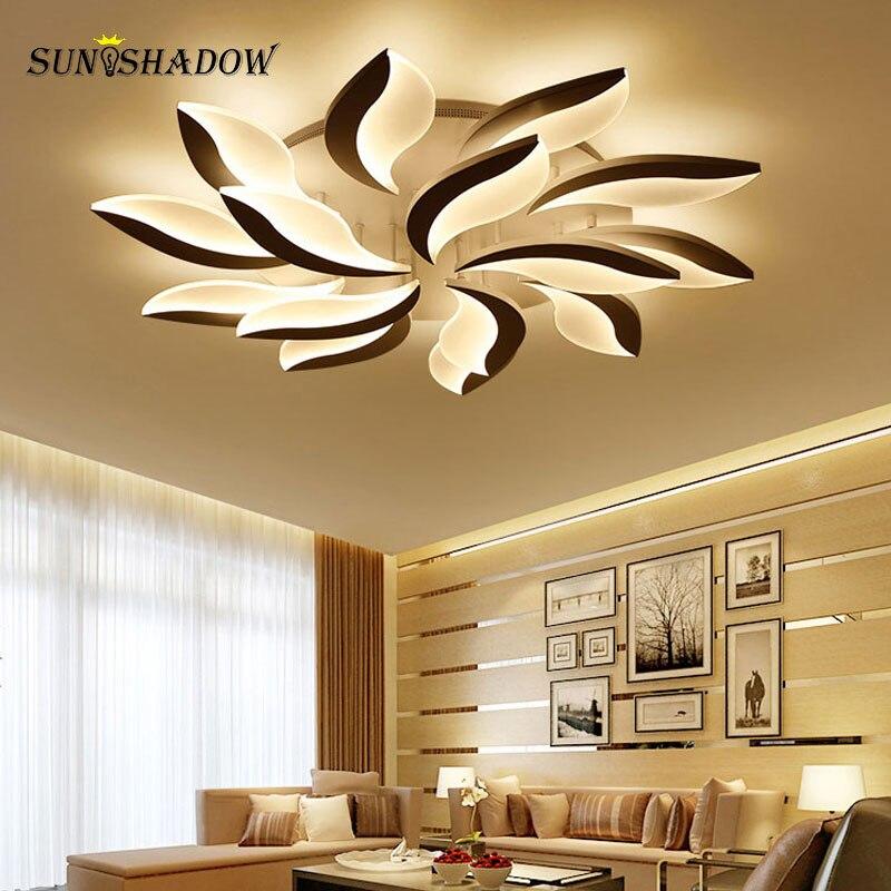 White Body Modern LED Ceiling Light lampara de techo For Living Room Bedroom Home Lustres Plafond
