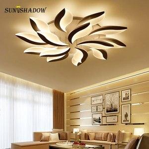 Image 5 - לבן גוף מודרני LED תקרת אור lampara דה techo לסלון חדר שינה בית Lustres Plafond תקרת מנורת גופי תאורה