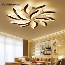 цены White Body Modern LED Ceiling Light lampara de techo For Living Room Bedroom Home Lustres Plafond Ceiling Lamp Lighting Fixtures