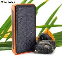 Nuevo banco de la energía solar A Prueba de agua solar power bank batería externa powerbank cargador solar para todo el teléfono móvil envío Rápido